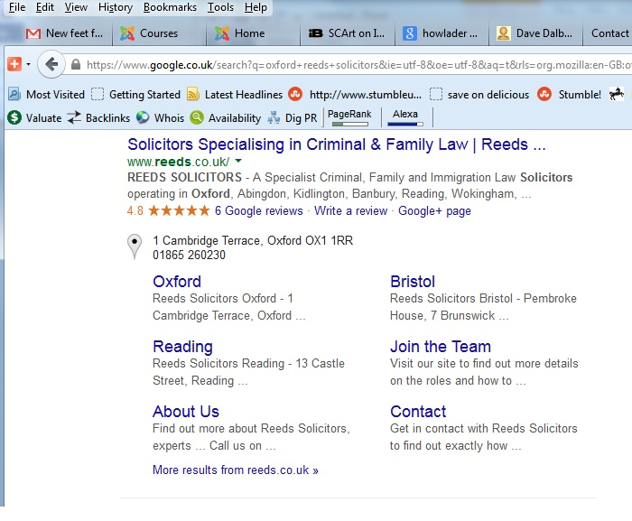 Google+ Ratings in Search Listings
