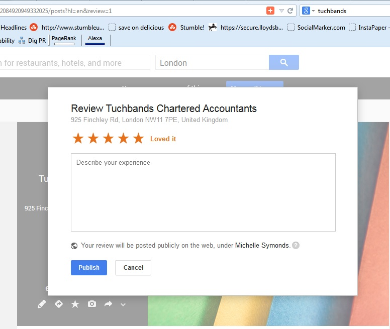 Google+ Review Box